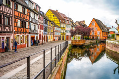 Petite Venise de Colmar (Alexandros Gabrielsen) Tags: ony a7 iii france colman venice cityscape landscape river houses lapetitvenice alsace boat graphical photography travel travelphotography nature travelling architecture cityphotography cloudy cold crisp blogger amazing city dream colour