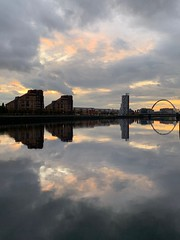 Clyde River reflections 😍 (markshephard800) Tags: water clouds sunset sky reflections glasgow scotland river clyde
