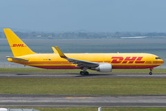 DHL Boeing 767-300F; VH-EXZ@AKL;19.10.2019 (Aero Icarus) Tags: aucklandinternationalairport auckland newzealand akl plane avion aircraft flugzeug dhl boeing 767300f vhexz transtasmanairlines freighter