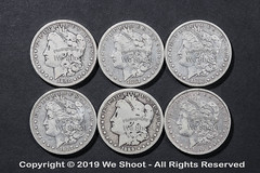Morgan Silver Dollars (weeviltwin) Tags: morgan silver dollar dollars good condition obverse 19thcentury old coin coins money monies currency weshootcom bullion round rounded circle circular collector collectible 6 six