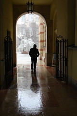 An Old photo this Time, My hubby Johnny In Budapest March 2010 (janpaulkelly) Tags: budapest hungary husband travels people doorway old europ cities europeancities europetravel reflections 2010 march snow arch treeoflife monument buildings solitary