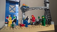 Another perfect day in space - Ground level (toastergrl) Tags: lego classic space benny lenny kenny jenny yvenny monorail moc afol vignette movie