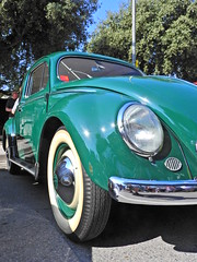 Village green (Couldn't Call It Unexpected) Tags: volkswagen beetle bug green whitewalls