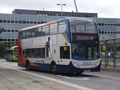 Stagecoach ADL Enviro 400 (Scania N230UD) 15445 MX08 GHJ (Alex S. Transport Photography) Tags: bus outdoor road vehicle stagecoach stagecoachmidlandred stagecoachmidlands adlenviro400 enviro400 e400 scania n230ud routex6 15445 mx08ghj