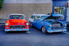 Two of a Kind (kendoman26) Tags: hdr nikhdrefexpro2 october2019morrisilcruisenight morriscruisenight 1955chevy 1955chevroletwagons sonyalpha sonyphotographing sonya6000 selp1650