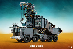 The Doof Wagon + instructions (Nicola Stocchi) Tags: lego mad max fury road doof wagon truck car vehicle rock metal guitar drums war warrior fire flamethrower post apocaliptic engine desert wasteland valhalla