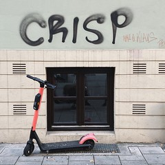 crisp lives (mennyj) Tags: vacation travel croatia maslinica split germany munich fall 2019 mobile iphone iphone11 europe international crisp grafitti wall art scooter james turk