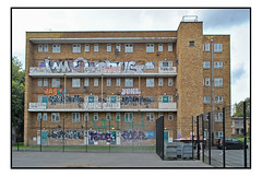 EVE OF DESTRUCTION (StockCarPete) Tags: buiding urbanlandscape architecture graffiti tags jam homerton hackney london uk 1960sbuilding socialhousing duedemolition