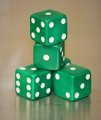 Five Green Dice. (The.Backyard.Photographer.) Tags: four green dice cubes numbers diceonly smileonsaturday