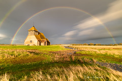 Name suggestions please (Nathan J Hammonds) Tags: kent church st thomas becket rainbow clouds storm moody intense sun skies marshes nikon irex lee filters autumn rain wind beautiful colour long exposure