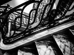 DarkStair.jpg (Klaus Ressmann) Tags: klaus ressmann winter blackandwhite france exhibition omd em1 staires bergmann fparis omdem1 klausressmann flicvarious
