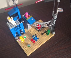 Another perfect day in space - Birds' eye view (toastergrl) Tags: lego classic space blacktron benny lenny kenny jenny yvenny vic viper monorail moc afol vignette movie
