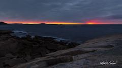 Sliver Sunrise_27A8000 (Alfred J. Lockwood Photography) Tags: maine acadianationalpark seascape ocean water fall autumn sunrise dawn alfredjlockwood nature atlanticocean atlanticcoast