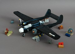 P-61A-5 Black Widow (Sydag) Tags: lego moc aircraft plane airplane warbird wwii nightfighter