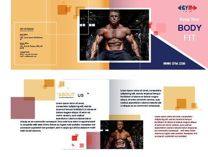 Multipage Brochure, Leaflet Design Pack in Yellow and Red Color.