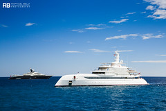 Tranquility - 91,5m - Oceanco & Excellence - 80m - Abeking & Rasmussen (Raphaël Belly Photography) Tags: rb raphaël raphael belly photographie photography yacht boat bateau superyacht my yachts ship ships vessel vessels sea tranquility equanimity 91m 92 m oceanco white blanc bianco bianca blanche blue bleu bleue imo 1012086 mmsi 319059800 motor mer meters excellence abeking rasmussen 80m 80 9823144 319161800