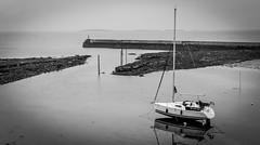 Seahouses . (wayman2011) Tags: colinhart fujifilm35mmf2lightroom5 fujifilmxt1 wayman2011 bw mono coast boats harbours northumberland seahouses uk