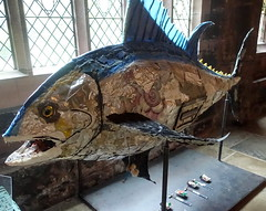 Giant fish in Chester Cathedral (Tony Worrall) Tags: chester cheshire city past visitors cathedral church sculpture model quirky fish fishy inside kids sea seafood welovethenorth nw northwest north update place location uk england visit area attraction open stream tour country item greatbritain britain english british gb capture buy stock sell sale outside outdoors caught photo shoot shot picture captured ilobsterit instragram
