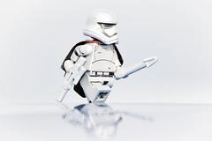 LEGO Captain Phasma (weeLEGOman) Tags: lego captain phasma star wars first order stormtrooper silver printed arms minifigure toy macro photography uk nikon d7100 105mm rob robert trevissmith weelegoman firestartoys