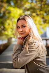 Klaudia (Michał Banach) Tags: klaudia nikond850 poznań tamronsp85mmf18divcusd autumn beauty city citycenter colors female girl polishgirl portrait portret smile sun woman greaterpolandvoivodeship poland