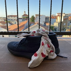 happy six months (mennyj) Tags: vacation travel croatia maslinica split germany munich fall 2019 mobile iphone iphone11 europe international six 6 months anniversary heart socks patio view bokeh shoes mizzles allbirds markham