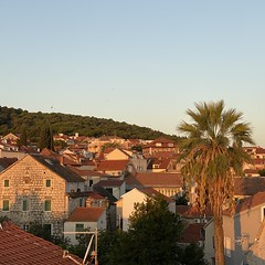 sunrise (mennyj) Tags: vacation travel croatia maslinica split germany munich fall 2019 mobile iphone iphone11 europe international sunrise homes houses roof red terra cotta mediterranean airbnb view patio palm tree