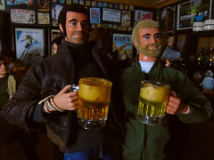 Reunited! (Blondeactionman) Tags: bamhq action man ammo arms pub diorama photography one six scale knock offs sj felix playscale