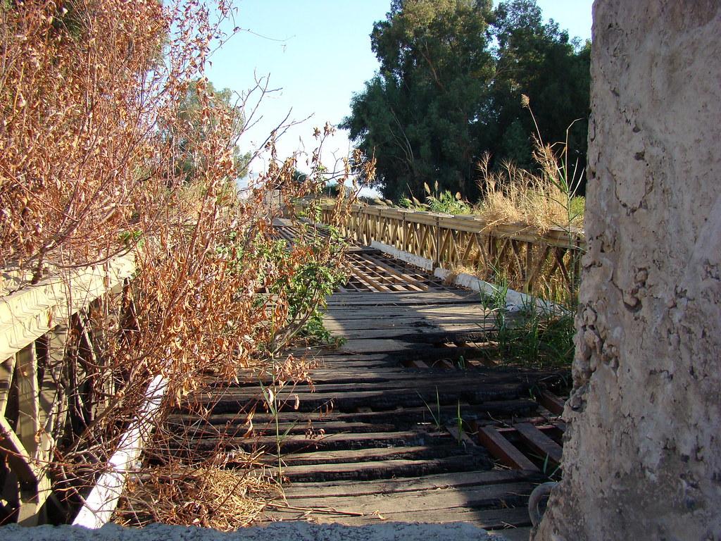 фото: Заброшенный мост через Иордан