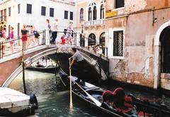 Venice, Italy - From a Gondola 4 (jrozwado) Tags: europe italy italia venice venezia unescoworldheritage canal gondola gondolier bridge ponte