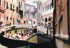 Venice, Italy - From a Gondola 3 (jrozwado) Tags: europe italy italia venice venezia unescoworldheritage canal gondola gondolier bridge ponte