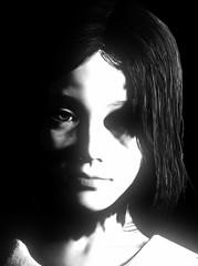 """Little girl"" (L1netty) Tags: theevilwithin theevilwithin2 tangogameworks bethesdasoftworks bethesda pc game gaming pcgaming videogame reshade screenshot virtual digital srwe 5k character lily girl female people portrait closeup face light shadows blackandwhite monochrome bw"