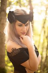 Gothic black crown (annaaayukhno) Tags: witch crown black magic goddess headdress gothic swan fascinator dark fairy headpiece nature festival queen wedding gatsby