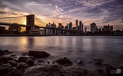 Made in New York (Puente de Brooklin) (JoseQ.) Tags: newyork brookling puentepuestadesol atardecer sun sol viaje sony ciudad rio hudson construccion rascacielos