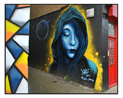 STREET ART by SEL. WCA (StockCarPete) Tags: streetart londonstreetart urbanart graffiti londongraffiti london uk art mural sel selfwca femaleportrait wallart
