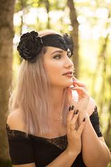 dark queen headdress (annaaayukhno) Tags: witch crown black magic goddess headdress gothic swan fascinator dark fairy headpiece nature festival queen wedding gatsby