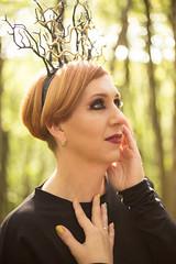 Gold Medusa Snake (annaaayukhno) Tags: witch crown black magic goddess headdress gothic swan fascinator dark fairy headpiece nature festival queen wedding gatsby medusa