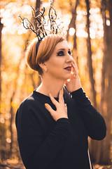 medusa headpiece (annaaayukhno) Tags: witch crown black magic goddess headdress gothic swan fascinator dark fairy headpiece nature festival queen wedding gatsby medusa