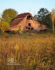 Barn in Dalton, GA (Mike Woodfin) Tags: mikewoodfin mikewoodfinphotography photo picture photography photograph photos photoshop pretty barn backroads country county cool contrast color rusty rural rust rustic deserted decrepid decay delapidated defunct destroyed dalton georgia sunrise sunset orange awesome beautiful beauty wood woodwork wooden planks