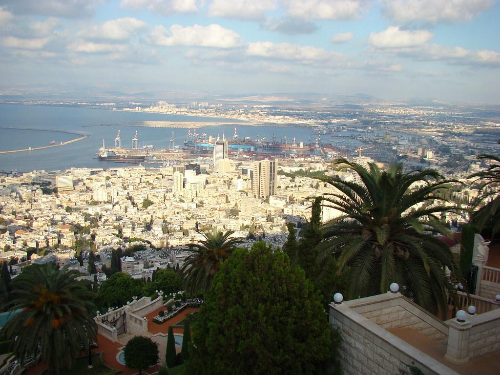 фото: Вид на Хайфу и Бахайские сады