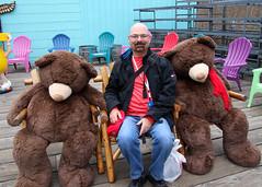 Hanging Out With My Buddies (oxfordblues84) Tags: bear man me alaska chair eric chairs bears ketchikan princesscruises ketchikanalaska royalprincesscruise goatee glasses bald facialhair brownbears