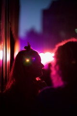 Beautiful Mind (claudia 222) Tags: noctilux asph 50mm f095 sony a7s night party amsterdam human silhouette color red candid street lensflare