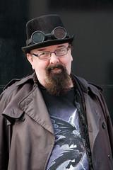 Self expression (paul indigo) Tags: paulindigo beard character colour fashion goggles hat individual man people portrait selfexpression steampunk streetphotography style