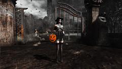 Happy Halloween! (Enewa Eleonorah) Tags: avatar mesh sl gothic bento secondlife virtual model goth suicidalunborn su maitreya akeruka ak sintiklia redfish honeysoul