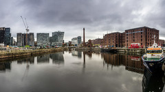 Canning Dock (Philip Brookes) Tags: water reflection dock canningdock liverpool merseyside britain building architecture boat ship weather storm