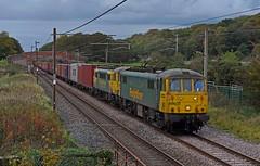 Freightliner Class 86s at Work (garstangpost.t21) Tags: 86605 86622 freightliner 4m83 lancashire woodacre coatbridge crewebasfordhallyard