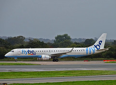 G-FBEI Embraer 195 of Flybe (SteveDHall) Tags: aircraft airport aviation airfield aerodrome aeroplane airplane airliner airliners manchester manchesterairport mcr man egcc 2019 ringway gfbei bee be flybe embraer e190 e195 embraer195