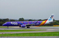 G-FBEJ Embraer 195 of Flybe (SteveDHall) Tags: aircraft airport aviation airfield aerodrome aeroplane airplane airliner airliners manchester manchesterairport mcr man egcc 2019 ringway gfbej welcometoyorkshire bee be flybe embraer e190 e195 embraer195
