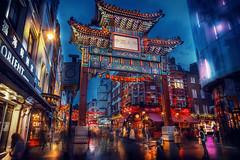 Chinatown, London (Chrisnaton) Tags: chinatown london chinatowngate england city traveling architecture citylights
