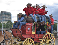 Riding Into Town (Scott 97006) Tags: coach donkey ride parade men cowboys