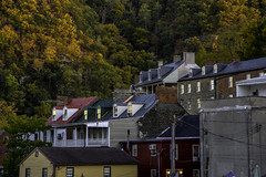 Harper's Ferry , West Virginia (crabsandbeer (Kevin Moore)) Tags: autumn fall farm harpersferry history house leaves nature railroad reflection smalltown westvirginia wv foliage goldenhour travel architecture houses mountains